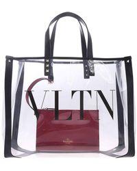 faf165593bc5e Valentino - Grande Plage Small Pvc   Leather Tote Bag - Lyst