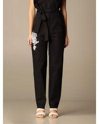 Twin Set Trousers - Black