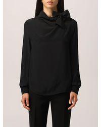 Boutique Moschino Camicia in crepe de chine di seta - Nero