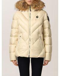 Blauer Jacke - Weiß
