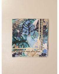 Liu Jo Foulard a fantasia tropicale - Blu