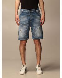 Dondup Pantaloncino di jeans con rotture - Blu