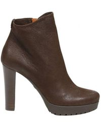 Emporio Armani - Heeled Booties Heels 8+2 Suede Ankle Boots - Lyst