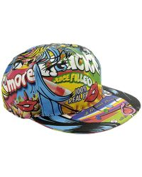 Moschino - Cap Moschinoeyes Capsule Collection With Rigid Cotton Visor With Moschino Pop Art Print - Lyst
