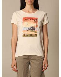 Fred Mello T-shirt - Natur