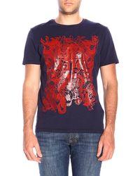 Cesare Paciotti T-shirt Men - Blue