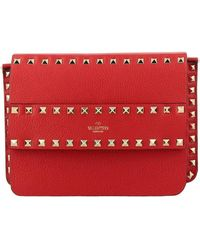 Valentino - Rockstud Spike Bag In Textured Leather With A Thin Shoulder Strap - Lyst