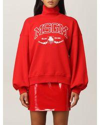 MSGM Sweat-Shirt - Rouge