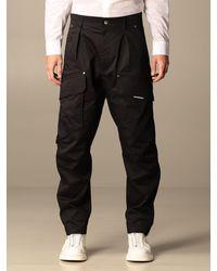 Les Hommes Pantalone in cotone - Nero