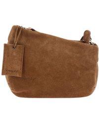Marsèll Fantasmino Shoulder Bag In Suede - Brown