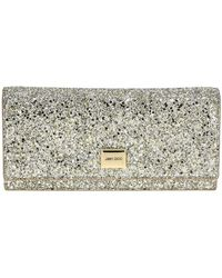 Jimmy Choo Lilia Glitter Clutch With Removable Shoulder Strap - Multicolour