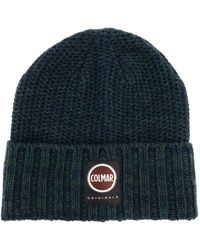 Colmar Ribbed Hat With Maxi Logo - Blue