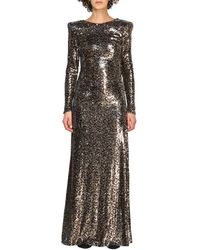 Manila Grace Women's Dress - Metallic