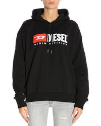 DIESEL - Embroidered Jersey Sweatshirt Hoodie - Lyst