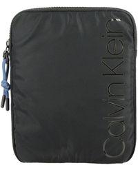 Calvin Klein Trail Nylon Bag With Logo - Black