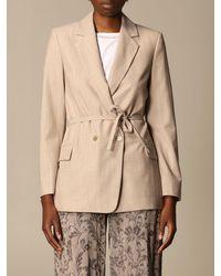 Erika Cavallini Semi Couture Blazer - Natural