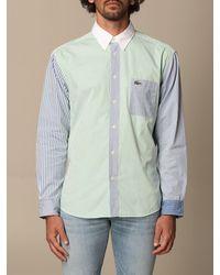 Lacoste Camicia in popeline a righe - Blu
