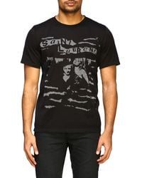 Saint Laurent Jacquard Logo Tee - Black