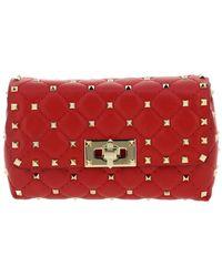 Valentino Rockstud Spike Belt Bag - Red