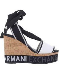 Armani Exchange Wedge Shoes Shoes Women - Black