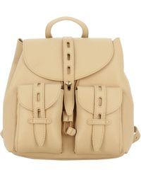Furla Textured Pelel Backpack - Natural