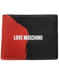 Love Moschino - Portafogli Saffiano Pu Nero-rosso, 's Wallet, Multicolour (black-red), 2x10x13 Cm (b X H T) - Lyst