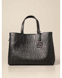 Armani Exchange Tote Bags - Black