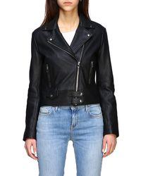 Pinko Classic Leather Jacket - Black