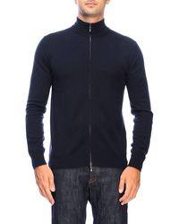Giorgio Armani - Basic Cashmere Cardigan With Zip - Lyst