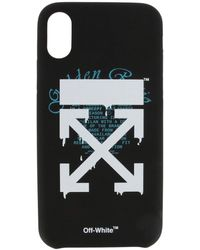 Off-White c/o Virgil Abloh Cover Iphone Xs With Logo Print - Black