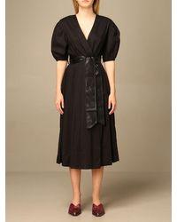 Twin Set Dress - Black