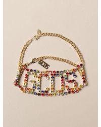 Gcds Collier con big logo di strass multicolor - Multicolore