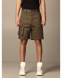 Les Hommes Pantaloncino con tasche a toppe - Nero