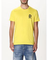 Dondup Tshirt in cotone con logo - Giallo
