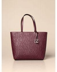 Armani Exchange Tote Bags - Purple