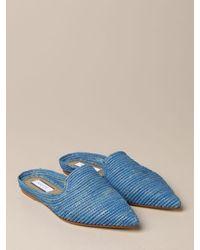 Patrizia Pepe Flat Shoes - Blue