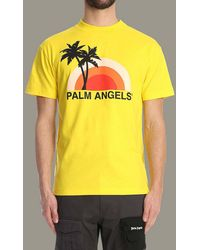 Palm Angels Sunset T-shirt - Yellow