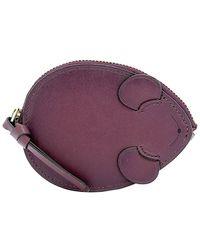 COACH - Purple Leather Wallet - Lyst