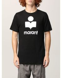 Étoile Isabel Marant Tshirt karman in cotone con logo - Nero