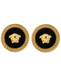 Versace Cufflinks In The Shape Of A Jellyfish Head - Black