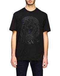 Versace Medusa-print T-shirt - Black