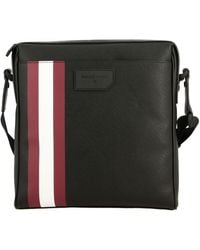 Bally - Skill.of Bag In Saffiano Leather With Striped Band - Lyst