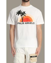 Palm Angels Sunset Graphic-print T-shirt - White