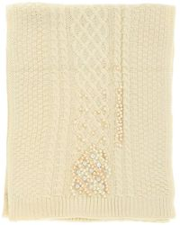 Twin Set Twin-set Wool Scarf With Pearls - Multicolor