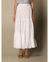Twin Set Skirt - White