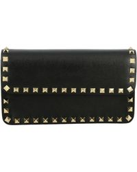 Valentino - Rockstud Spike Bag In Leather With A Thin Shoulder Strap - Lyst