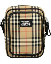 Burberry Vintage Check And Leather Crossbody Bag - Multicolour