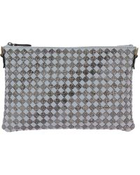 3a669ac443 Bottega Veneta - Shoulder Bag Clutch Model In Genuine Leather With Bicolor  Woven Pattern - Lyst