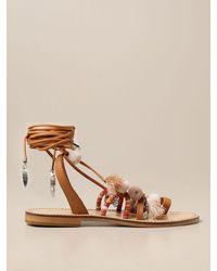 Twin Set Flat Sandals - Multicolour