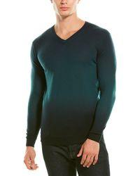 Forte Cashmere Fine Gauge Cashmere V-neck Sweater - Green